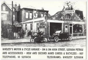 Berkshire; Wadley's Motor & Cycle Garage, High St, Slough Repro PPC, Unposted