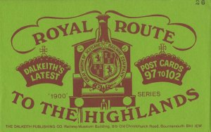 Royal Route To The Highlands 6x Scottish Railway Postcard s