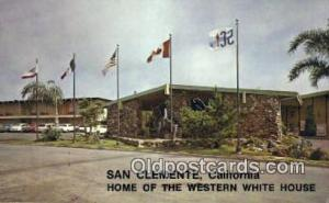 San Clemente Inn, San Clemete, CA, USA Motel Hotel Postcard Post Card Old Vin...