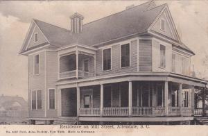 ALLENDALE , South Carolina, 1909 ; Main Street Residence ; Version-2