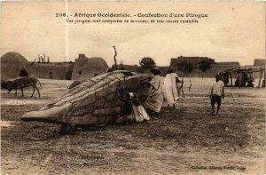 CPA AK Fortier 206 Afrique Occidentale Confection une Pirogue SENEGAL (761820)