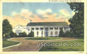 Charlotte Country Club Charlotte NC 1954