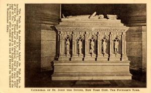 NY - New York City. Cathedral of St John the Divine. Founder's Tomb