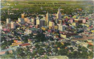 Air View of Tulsa Oklahoma OK 1948