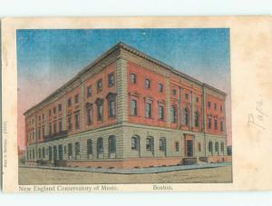 Pre-1907 NEW ENGLAND CONSERVATORY OF MUSIC Boston Massachusetts MA n6296