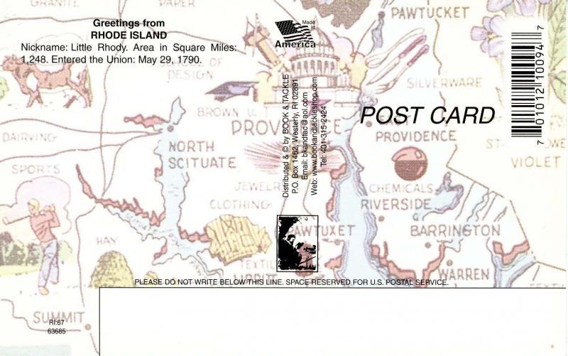 RI - Map of Rhode Island (Rhode Island)