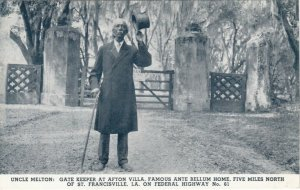 ST FRANCISVILLE , Louisiana, 1910-30s; Gate Keeper at Afton Villa