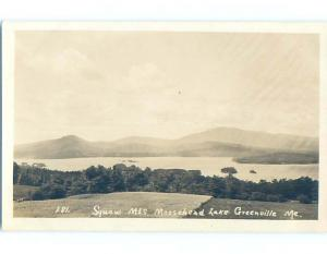 c1910 rppc MOUNTAINS AT MOOSEHEAD LAKE Greenville Maine ME HM2868