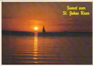 Sunset Over St John's River Jacksonville Florida