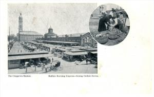 9575 NY Buffalo  Food Vendors Chippewa Market   Buffalo Morning Express Series