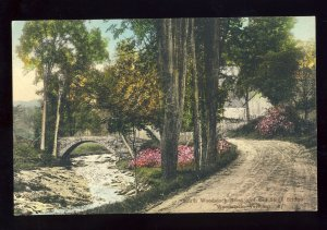 Woodstock, Vermont/VT Postcard, Inn, South Woodstock Road & Old Stone Bridge