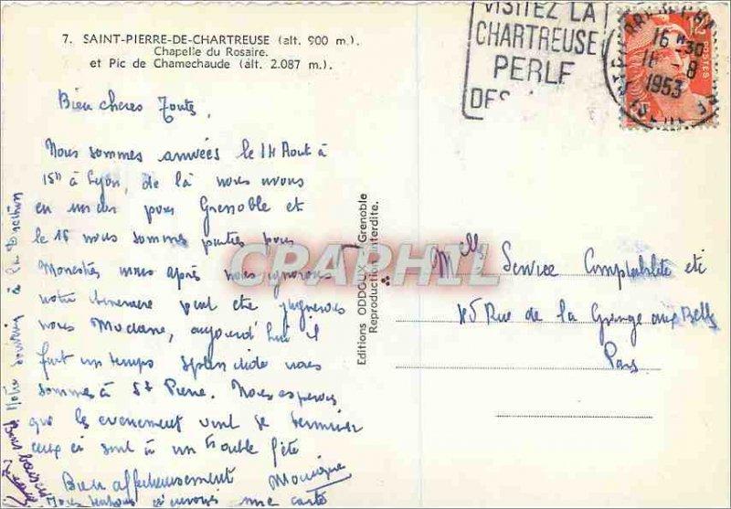 Postcard Moderne Saint Pierre De Chartreuse Chapelle du Rosaire and Pico Cham...