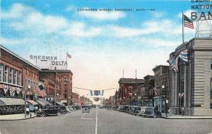 Escanaba Michigan~Ludington Street~Patriotic Flags~Lunch~Store Displays~1942