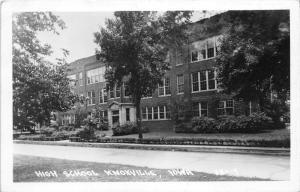 Knoxville Iowa~High School Building Across Street~1951 RPPC