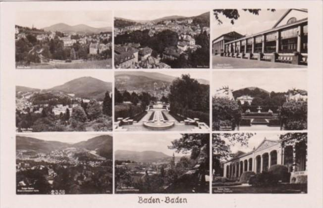 Germany Baden-Baden Multi View Real Photo