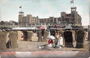 Palace Hotel van het Strand Gezien Scheveingen Holland Unused