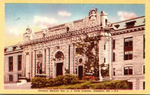 Maryland Annapolis U S Naval Academy Bancroft Hall Entrance Dexter Press