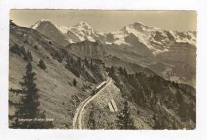 RP: Train and Alps,Schynige Platte Railway,Bernese Oberland,Switzerland 1910-20s