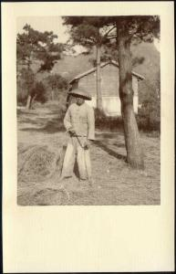 china, Native Chinese Labourer (1920s) Ingenohl's Real Photo Postcard