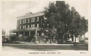 Gloucester Hotel ~ Bathurst NB New Brunswick ~ Vintage Real Photo RPPC Postcard