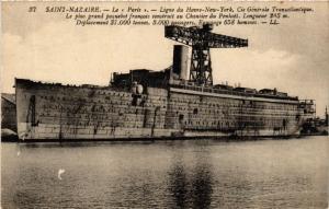 CPA  Saint-Nazaire - Le Paris - Ligne du Havre-York, Cie Générale... (588099)