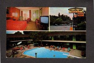 CA Hillside Inn Hotel  Motel Santa Rosa California Postcard Pool Calif