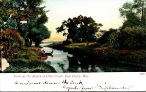 Wisconsin Eau Claire Scene At The Mouth Of Otter Creek 1907