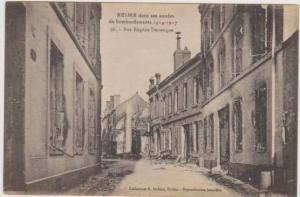 WWI Bombing Ruins,Rue Eugene Desteuque, Reims, France