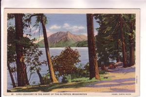 Lake Crescent, Heart of the Olympics, Washington, Asahel Curtis Photo, CP Joh...