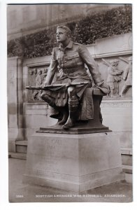 P1251 old RPPC scottish american war memorial eidenbugh scotland uk