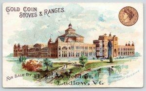 Ludlow VT~St Louis World's Fair~Wheldon~Gold Coin Stoves~Bussy-McLeod Troy NY TC
