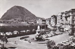 Switzerland Lugano Quai Fontana Bossi e Monte San Salvatore Photo