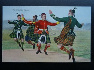 Scotland Military THE FOURSOME REEL c1906 Postcard by Valentine