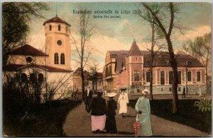 1905 Exposition Universelle de LIEGE Postcard Serbie Art Ancien HAND-COLORED
