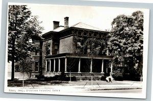 RPPC of Indianapolis IN-Indiana, President Benjamin Harrison Home Postcard