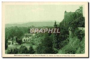 Postcard Old Sauveterre De Bearn Tower Monreal The house Gave, and the old br...