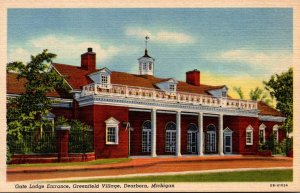 Michigan Dearborn Greenfield Village Gate Lodge Entrance Curteich