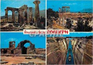 Postcard Modern Corinth Boat Train