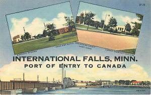 Three Views in International Falls Minnesota MN Linen
