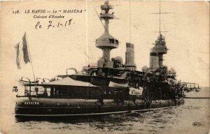 CPA AK LE HAVRE Cuirassé d'Escadre LE MASSÉNA SHIPS (703677)