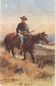 Harry Payne. The Scout Tuck Oilette The Wild West USA SeriePC # 9532