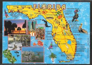Florida, map, mailed 1995