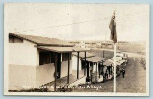 Postcard CA Los Angeles New Zealand Housing 1932 Summer Olympic Village RPPC AD6