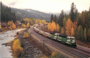 Railroad, Riverview, Montana, Burlington Northern Railroad,
