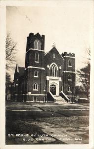 Blue Earth Minnesota~St Pauls Evangelical Lutheran Church~1920s Real Photo~RPPC