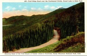 Colorado Rocky Mountains Trail Ridge Road Over The Continental Divide