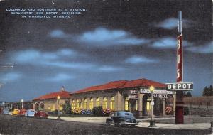 Cheyenne Wyoming~Burlington Bus Depot~Southern Railroad Station~1940s