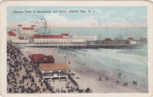 General View of the Boardwalk, Atlantic City, New Jersey, PU-1923