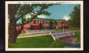Virginia Postcard Engineering School U of VA Charlottesville
