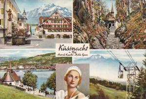 Switzerland Kuessnacht Koenigin Astrid & Multi View 1952
